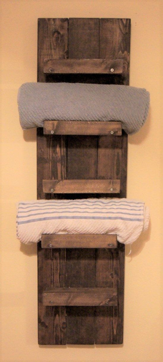 Bathroom Towel Rack Cabinet In 2020 Wooden Bathroom Shelves Diy Towel Rack Towel Holder Bathroom