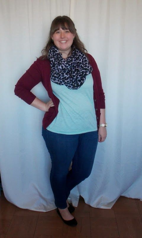 Undergraduate Style: A simple outfit that made me feel comfortable, maroon + mint, and a dalmatian print scarf!
