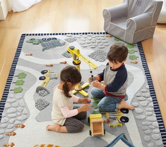 3d Activity Construction Rug Playroom Rug Kids Rugs Kids Bedroom Boys