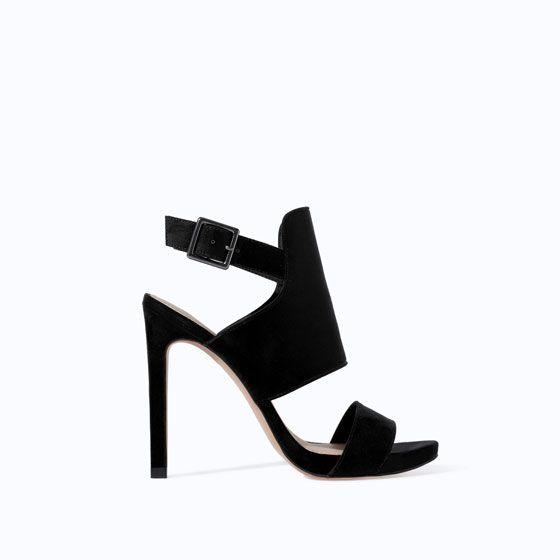 TRF WRAPAROUND SANDAL @Zara Lamey #shoes #metallic #style #fashion
