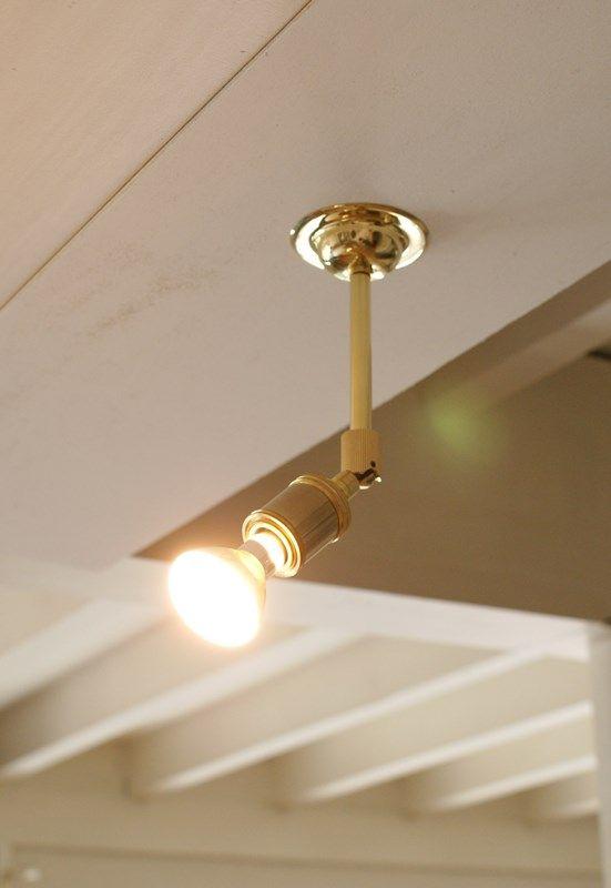 Brass Spot Light Moving Type Spt 09 真鍮素材を磨き上げて仕上げ