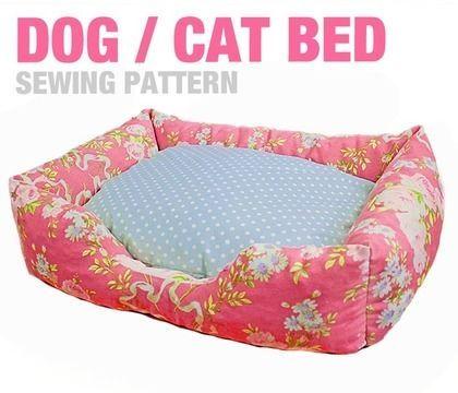 Sewing Pattern - Dog / Cat / Pet Bed - 3 Sizes - English Version - Schnittmuster und Nähanleitungen bei Makerist
