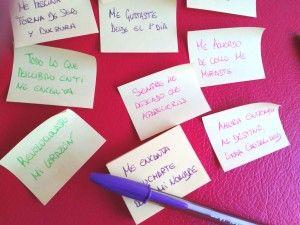 #Frases #Amor del Corazón de post-it, #manualidad #romántica #BlogTwinShoes