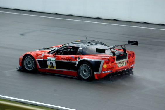 The Corvette of Alfredo Saligari on the TT Circuit of Assen during the ADAC GT Masters