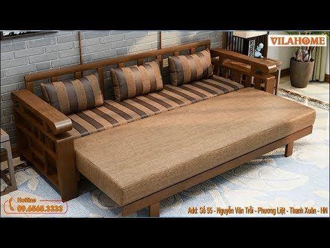 Sofa Giường Gỗ đẹp G901 Gia Rẻ Tại Ha Nội Vilahome Youtube