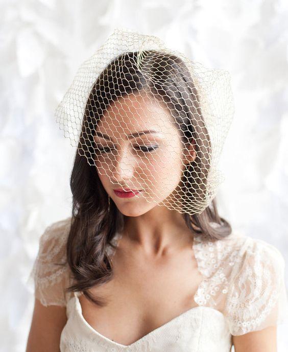 Birdcage veil - Goldie by Tessa Kim