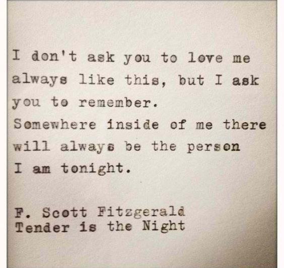 Fitzgerald  bitte vergiss mich nicht ...