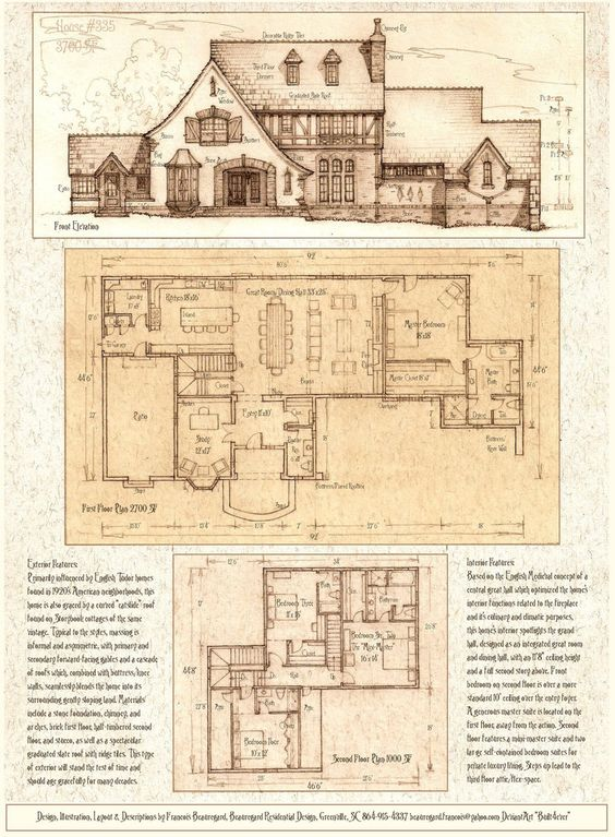 House 335 a tudor storybook luxury home by built4ever on Storybook cottages floor plans