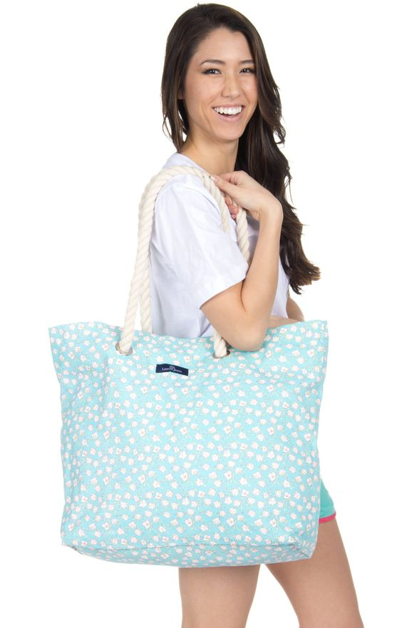 Lauren James Floral Print Beach Bag