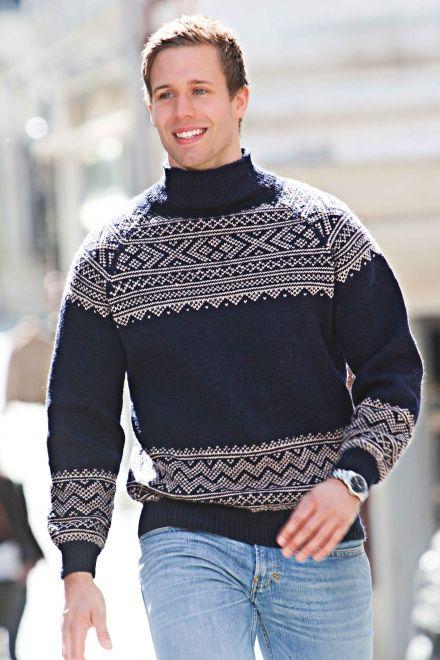aran genser med raglanfelling