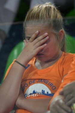 Princess Catharina-Amalia is seen after team of the Netherlands lost the Women's…