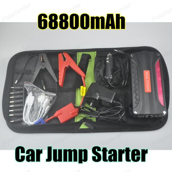 Atualizado super poder 68800 mAh banco de potência do carro 12 V de Multi-função Ir Para Iniciantes Car Emergency Power Bank Bateria carregador