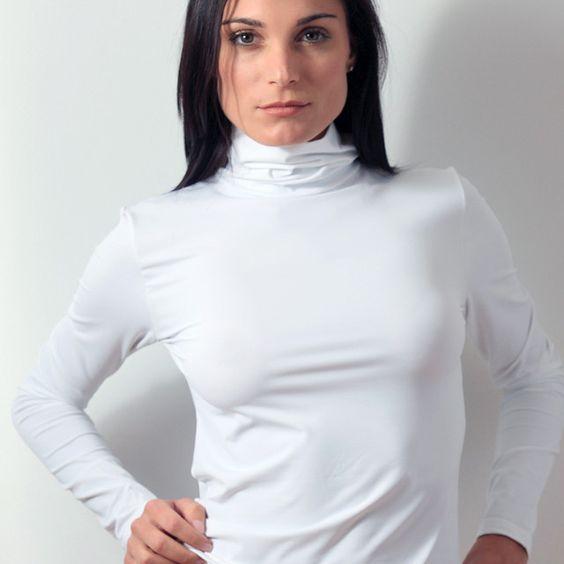 Plus Size Long Sleeve Turtleneck Layering Top