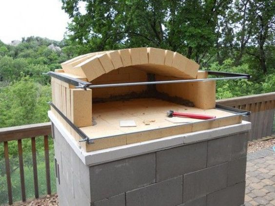 This Instructable explains how to build a brick pizza oven that - pizzaofen mit grill