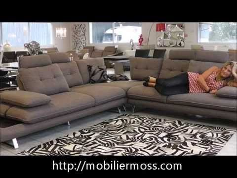 Canape D Angle Relax Meridienne En Tissu Dossiers Reglables