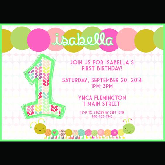 Caterpillar themed birthday party invitation. 5x7 digital. $10.00  www.pattycakespapers.etsy.com