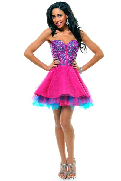 Details about Mini Short Multi Color Graduation Prom Homecoming ...