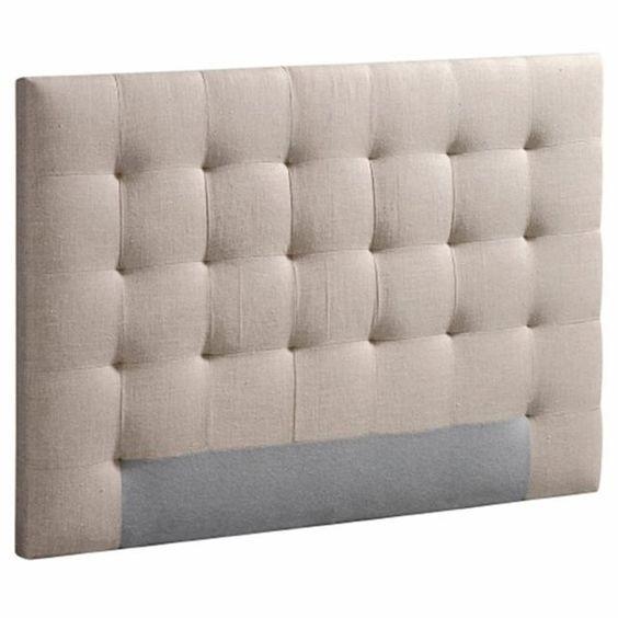 Image Tête de lit capitonnée Selve, hauteur 100 cm, 3 tailles AM.PM