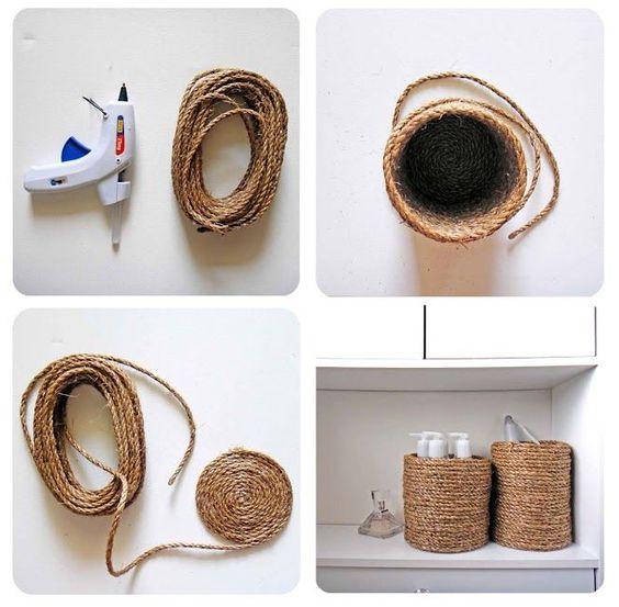 korb d r badezimmer basteln. Black Bedroom Furniture Sets. Home Design Ideas