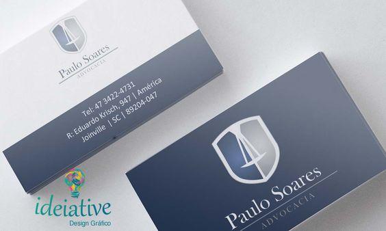 Cartão de Visitas Paulo Soares Advogado