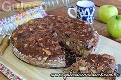 Bolo de Maçã com Chocolate » Liquidificador, Receitas Saudáveis, Tortas e Bolos » Guloso e Saudável