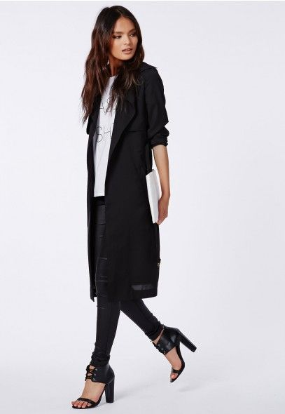 Hennie Lightweight Trench Coat Black - Coats &amp Jackets