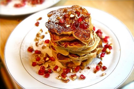 apricot and almond pancakes