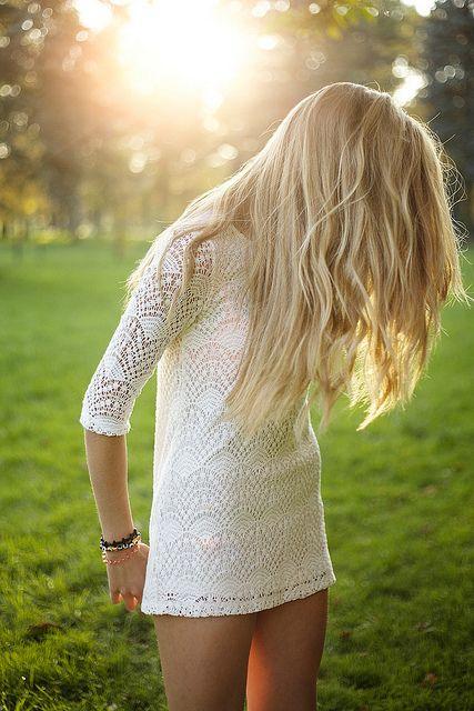 White dress & want hair