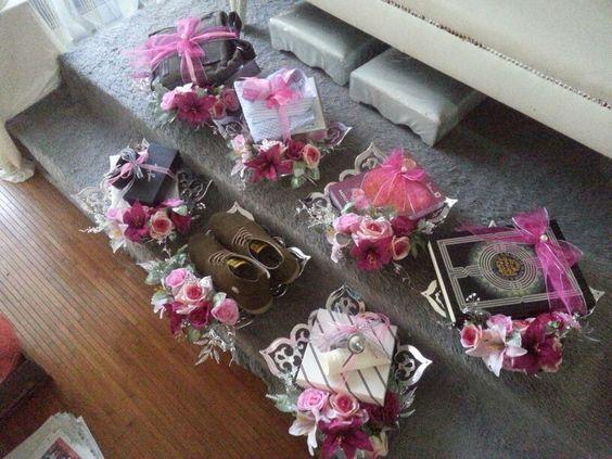 Hantaran perkahwinan yang simple idea gubahan hantaran for Idea door gift kahwin