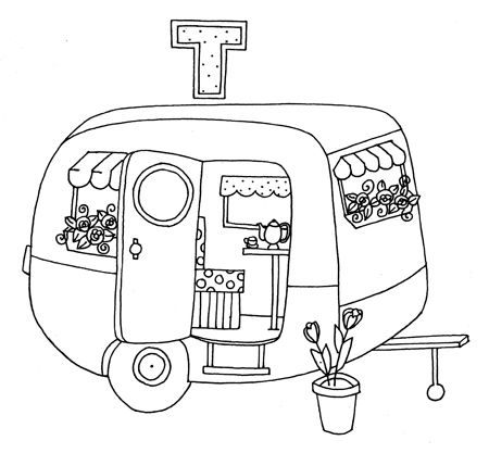 cute trailer: Hand Embroidery, Free Embroidery Pattern, Vintage Caravan, Trailer Free, Camping Embroidery Patterns, Trailer Embroidery