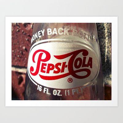 Pepsi-Cola Americana Art Print by Vorona Photography - $16.00
