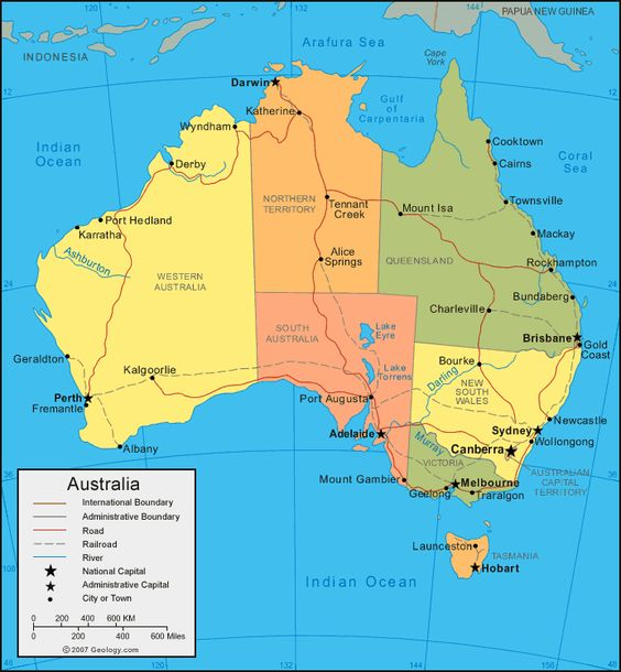Physical Map of Australia Australia Political Map – Explore Australia Map
