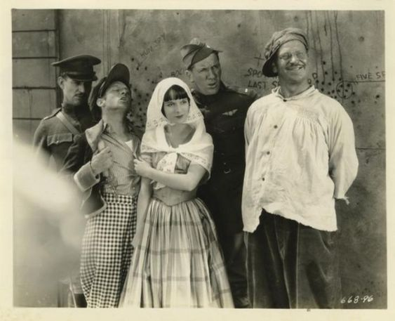 Louise Brooks and Wallace Beery in Now We're in the Air directed by Frank R. Strayer, 1927
