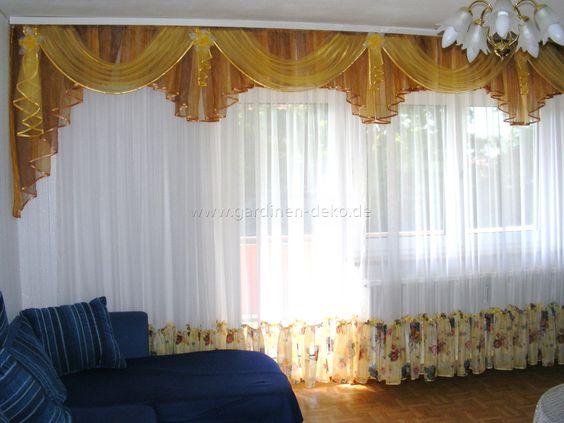 Klassischer Wohnzimmer Vorhang mit braun-beige Tönen und - gardinen modern wohnzimmer braun