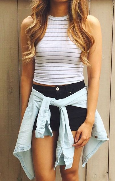 Crop Tops, High Waisted Shorts, & Jean Jackets | Personal Style ...