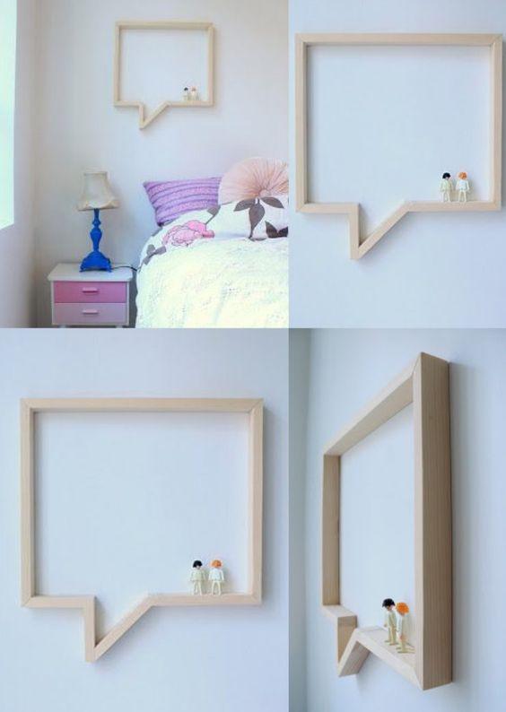 diy shelf tag re bulle de bd bois pinterest pour. Black Bedroom Furniture Sets. Home Design Ideas