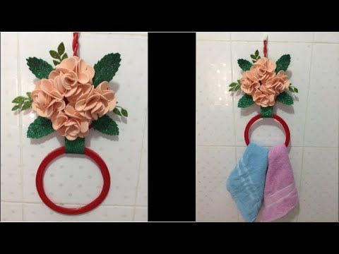 من غطاء علبه سمنه غطاء بلاستيك عملت أحلى وأسرع إعاده تدوير ديكورسهل وبدون تكلفه Youtube Decor Home Decor Hoop Wreath