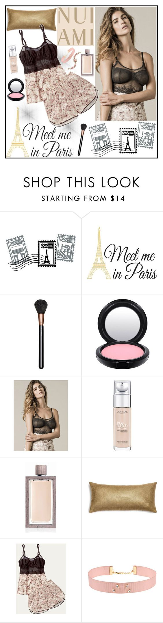 """""""Nui Ami 1"""" by gaby-mil ❤ liked on Polyvore featuring Dot & Bo, WallPops, MAC Cosmetics, L'Oréal Paris, Guerlain, Johnny Loves Rosie, Marchesa, lingerie and nuiami"""