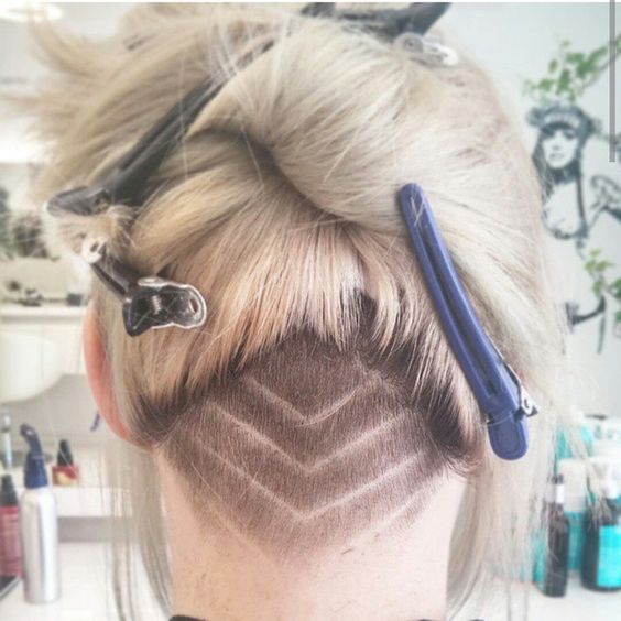 Undercut! #hairart #hairdesign #barberskills #barberlife #love that #undercut #hairdesign #headshave #shavedback #shavedhair #hairtattoo #tattoo #tattoohair #shavedpattern #shavednape #napeundercut #napeshave #longhair #blondehair #ponytail #napelove #undercutdesign #customundercut Thanks @vina_ha!