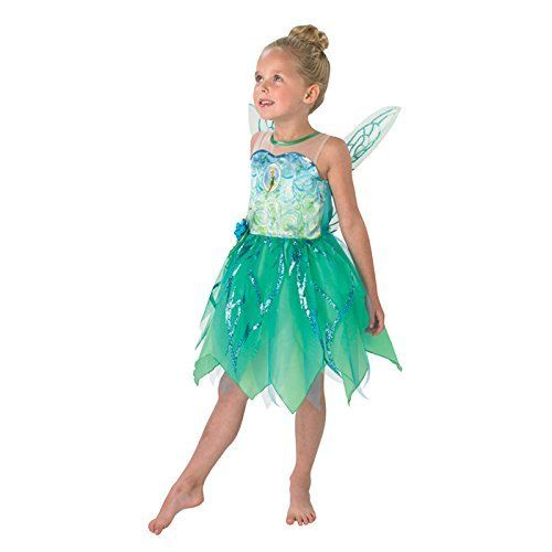 Girls Tinkerbell Costume Kids Disney Peter Pan Fancy Dress Fairytale Licensed