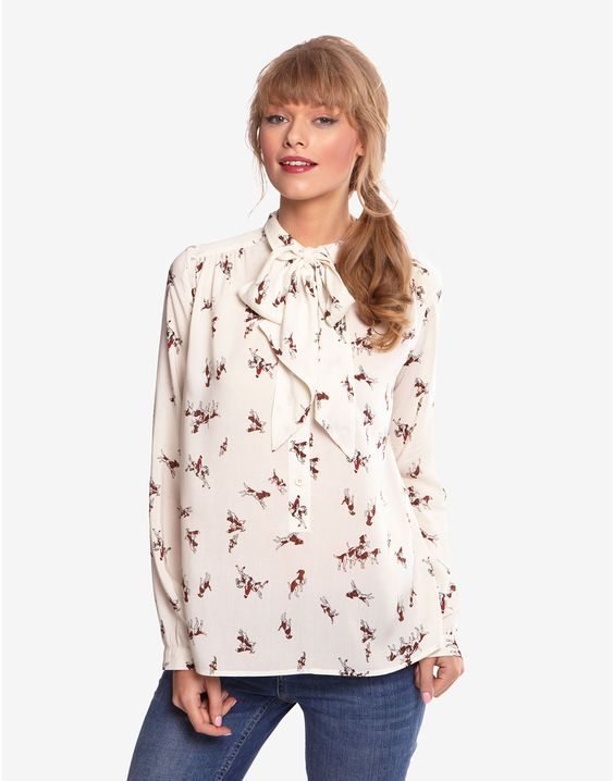 SHORLEY Womens Printed Blouse | beagle | Pinterest | Shirts ...