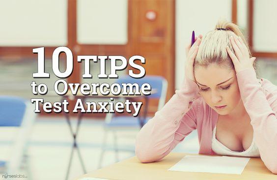 Here are 10 helpful test taking tips on how to reduce or overcome test anxiety for any nursing exam including the NCLEX. http://nurseslabs.com/10-brilliant-tips-overcome-test-anxiety/