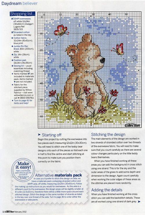 Almofada de ursinhos - parte 2