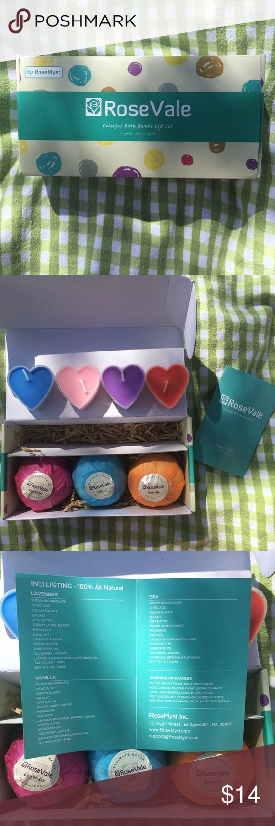 Bath bomb gift set. Bath bomb gift set with tea lights. Brand new without tags since it was purchased online. Other
