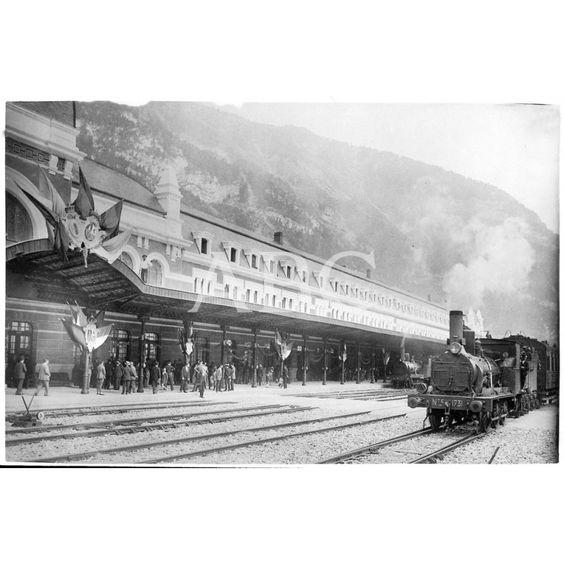 18/07/1928. INAUGURACIÓN DE LA ESTACIÓN DE SOMPORT (CANFRANC). EN LA IMAGEN LA PARTE ESPAÑOLA.18/07/1928: Descarga y compra fotografías históricas en | abcfoto.abc.es