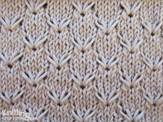 Unusual Knitting Techniques : Embroidery pattern repeat is only rows and super