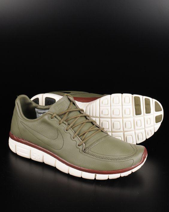 Nike Free 5.0 V4 Mixed Olives White Blue