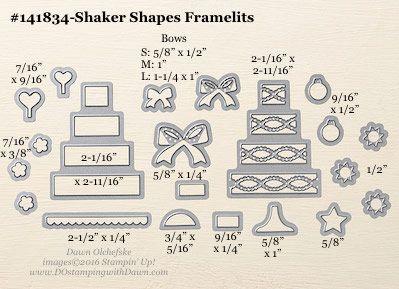 Shaker Shapes Framelits sizes shared by Dawn Olchefske #dostamping #stampinup