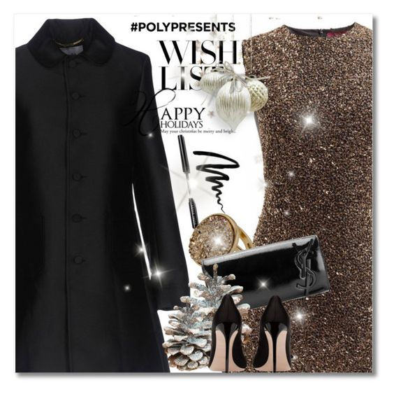 #PolyPresents: Wish List by andrejae on Polyvore featuring мода, Blugirl, Yves Saint Laurent, Bobbi Brown Cosmetics, contestentry and polyPresents