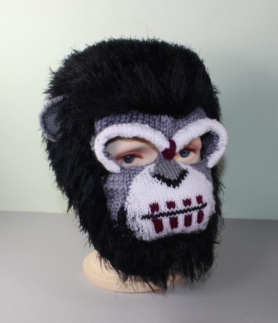 Knitting Pattern Of Baby Balaclava : Ape Mask Balaclava Accessories, Patterns and Knitting